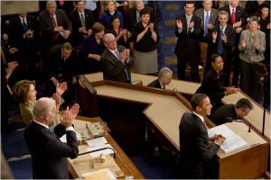 Photo from NYTimes - http://thecaucus.blogs.nytimes.com/2009/02/25/obamas-speech-52-million-plus-tv-viewers/