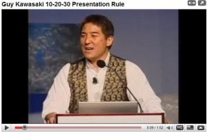 Guy Kawaski 10-20-30 rule